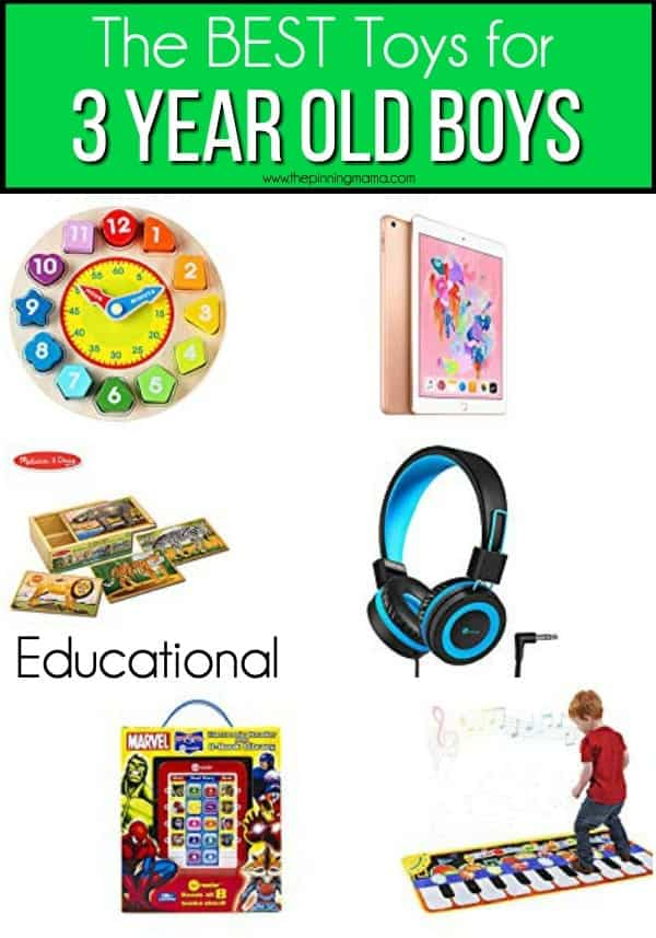 The BEST educational toys for 3 year old boys.