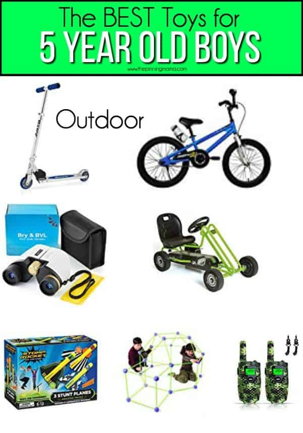 The BEST outdoor toy Ideas for 5 year old boys.