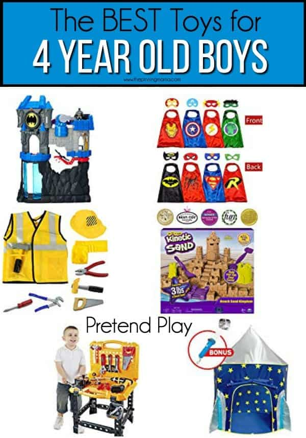 The BEST Pretend Play toy ideas for 4 year old boys.