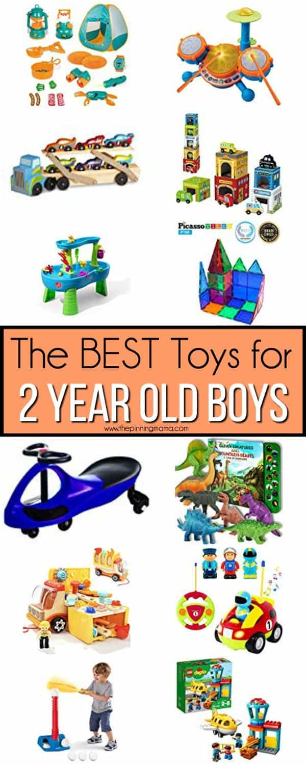 Big list of the BEST toys for 2 year old boys.