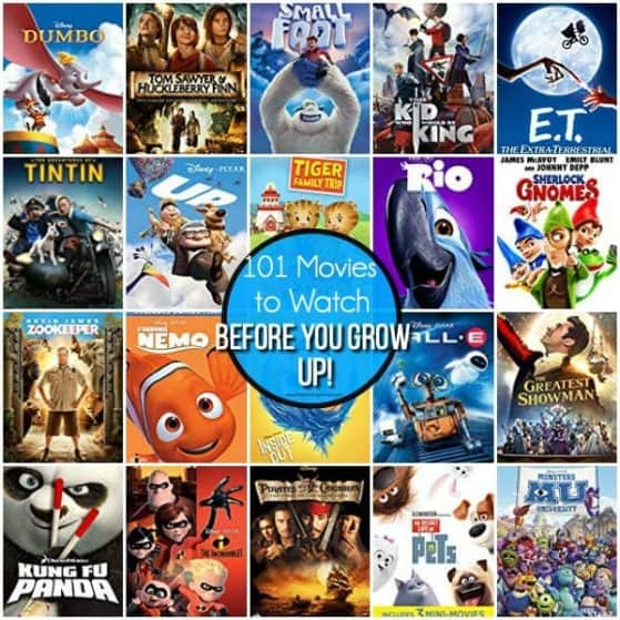 101 Movies to Watch Before you grow up!