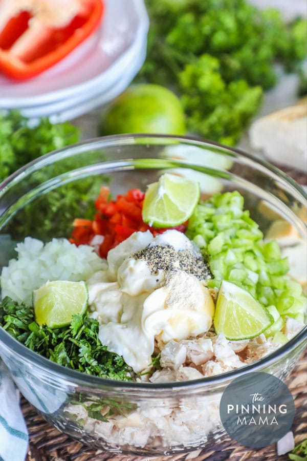 Quick is easy cilantro lime chicken salad is full of flavor.