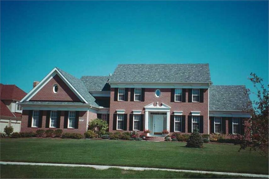 House Plans   Between 2500 3000 Square Feet 4 bedroom  2957 sq  ft  Colonial style home design with