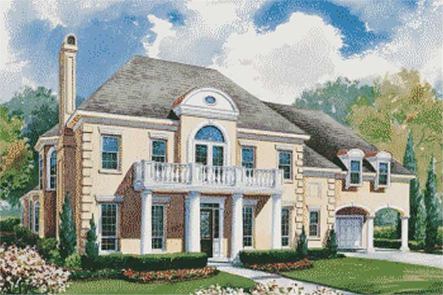 House Plan 120 1954 4 Bedroom 4345 Sq Ft Colonial