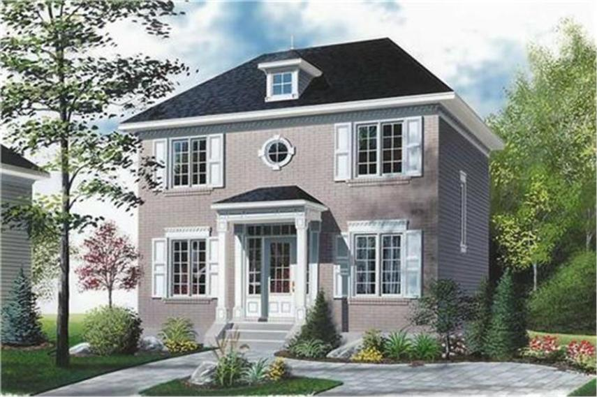 Small  Colonial  European  Historic House Plans   House Plan 126 1341  126 1341      Home Plan Rendering of this 3 Bedroom 1422 Sq Ft Plan  126