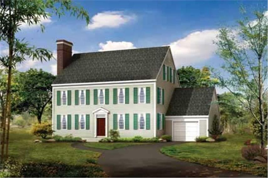 Georgian  Colonial House Plans   Home Design HW 2659   17532  137 1812      3 Bedroom  2507 Sq Ft Colonial Home Plan   137 1812   Main