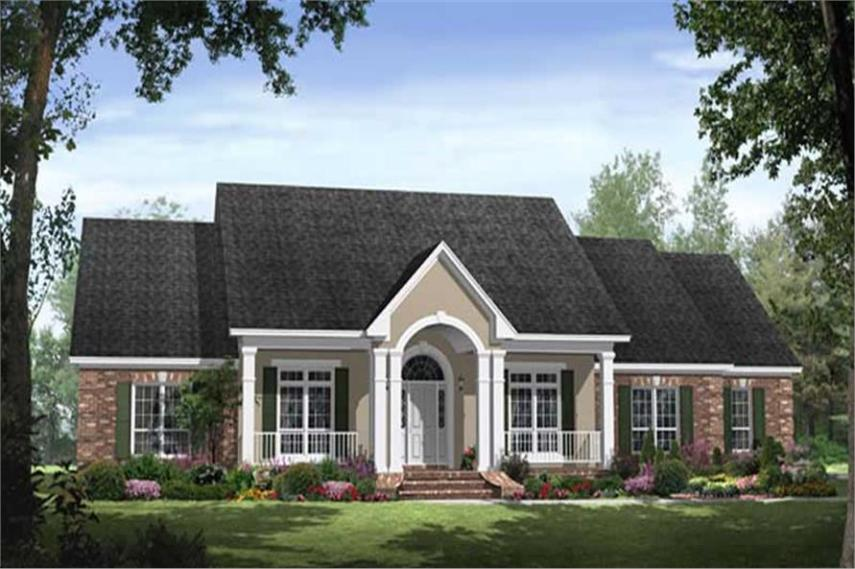 Country House Plans HPG 2769  141 1040      4 Bedroom  2769 Sq Ft Country Home Plan   141 1040   Main