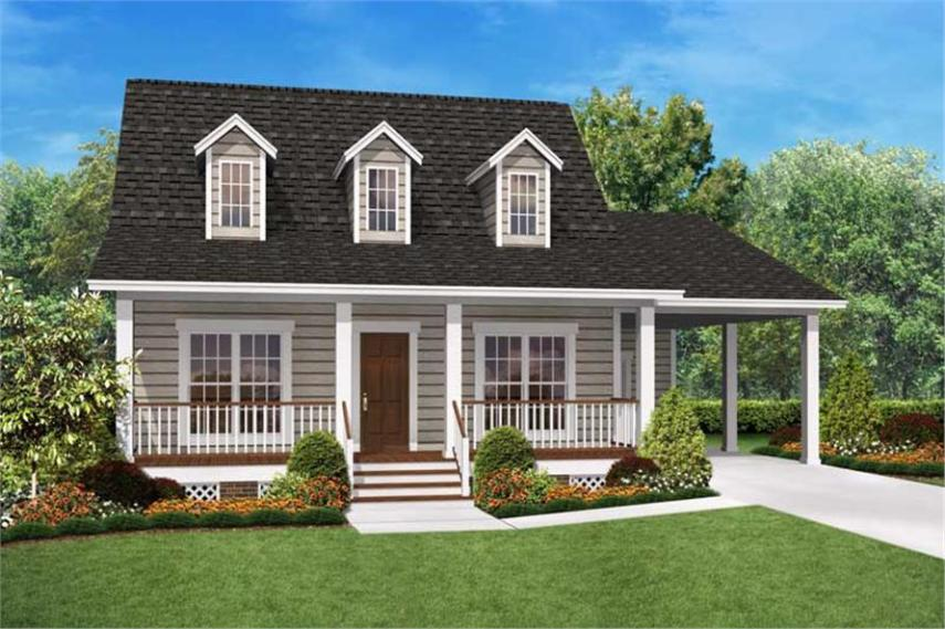 2 Bedrm  900 Sq Ft Cape Cod House Plan  142 1036  142 1036      2 Bedroom  900 Sq Ft Cape Cod Home Plan   142 1036