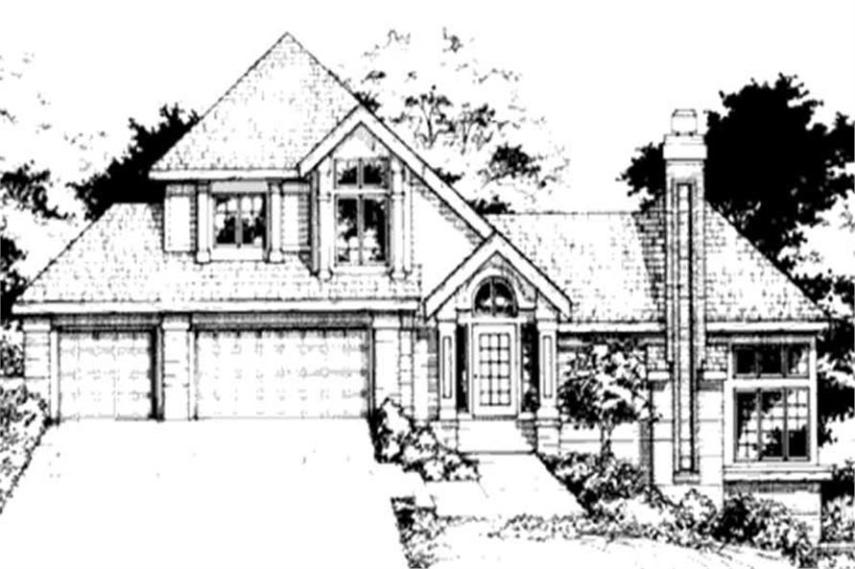 Multi level House Plans  Country House Plans  1 1 2 Story House      146 2953      3 Bedroom  3404 Sq Ft Cape Cod House Plan   146 2953