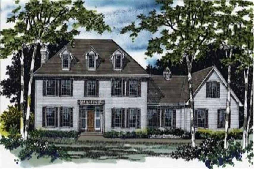 Colonial House Plans   Georgian Home Design M 3461   2321  149 1261      4 Bedroom  3461 Sq Ft Colonial Home Plan   149 1261   Main