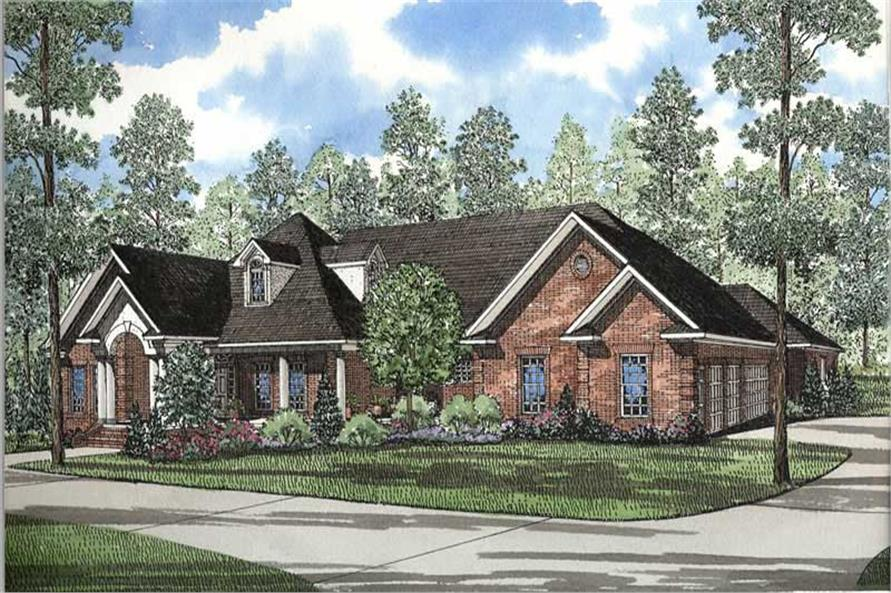 Traditional House Plans  European House Plans   Home Design Dogwood      153 1250      5 Bedroom  5724 Sq Ft European House Plan   153 1250   Front