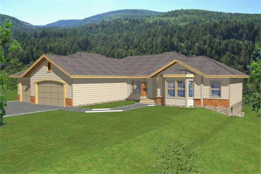 Contemporary  Ranch  In Law Suite House Plans   Home Design RDI     1 Bedroom  4823 Sq Ft Contemporary Plan with Walk In Closet