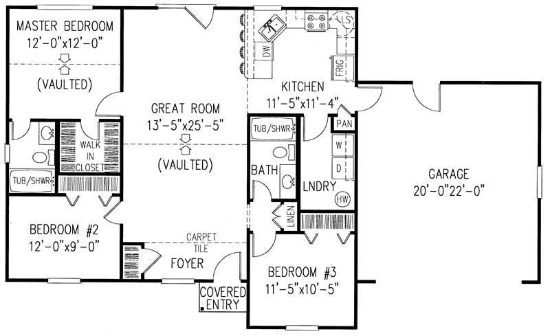 1200 Sq Ft 3 Bedroom 2 Bath Floor Plans