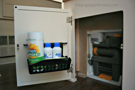 Pop Up Camper Remodel Doors For The Dinette Storage The