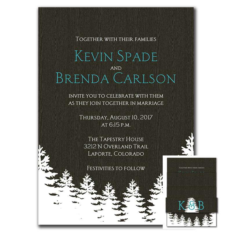 Order Rustic Wedding Invitations Online