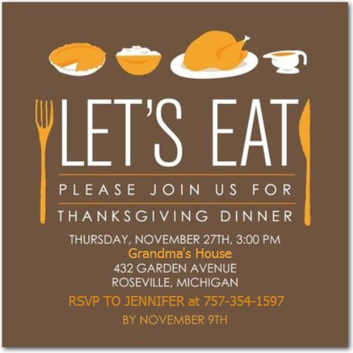 Thanksgiving Turkey Flyer Template