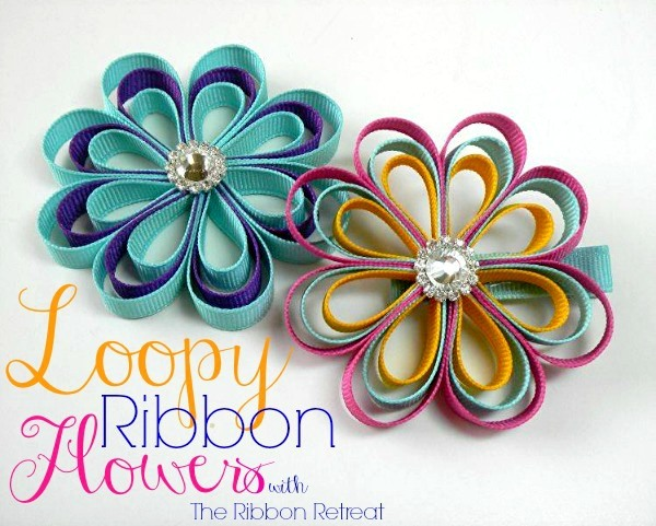 Loopy Ribbon Flowers   The Ribbon Retreat Blog