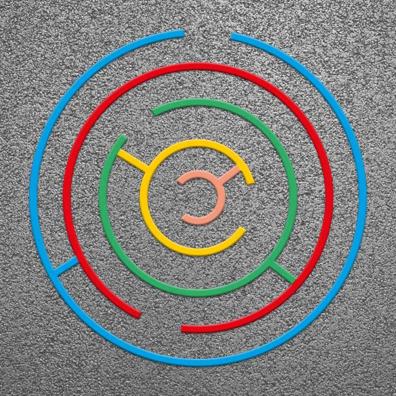 Circular Maze 3m Thermoplastic Anti Slip Playground