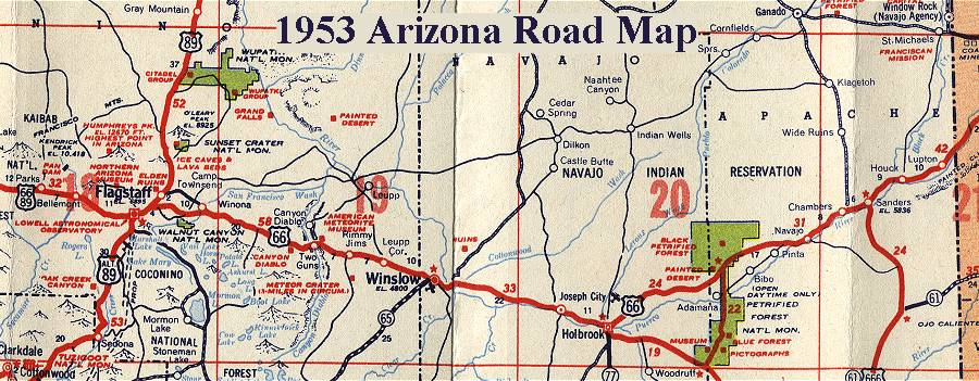 Arizona Map Az Oatman