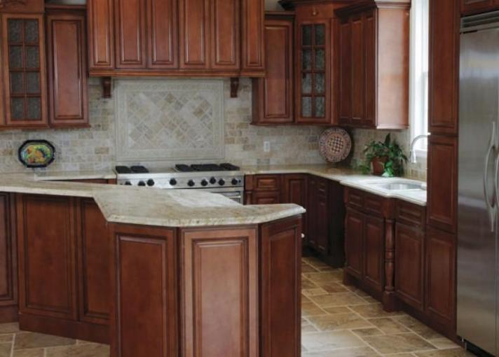 Pre Assembled Kitchen Cabinets   The RTA Store Nutmeg Twist Pre Assembled Kitchen Cabinets