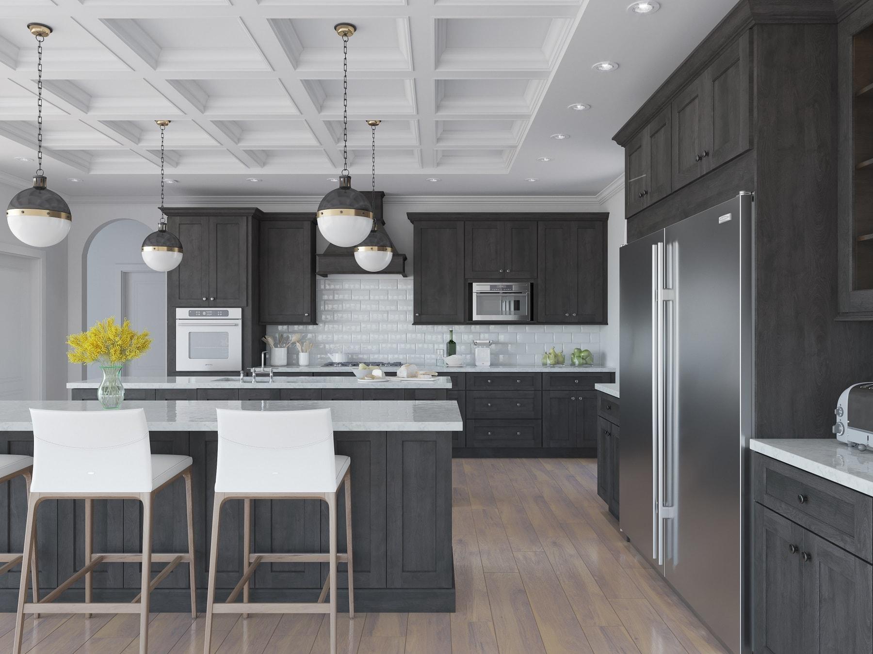 Best Kitchen Gallery: Natural Grey Shaker Ready To Assemble Kitchen Cabi S Kitchen of Kitchen Cabinets Grey on rachelxblog.com