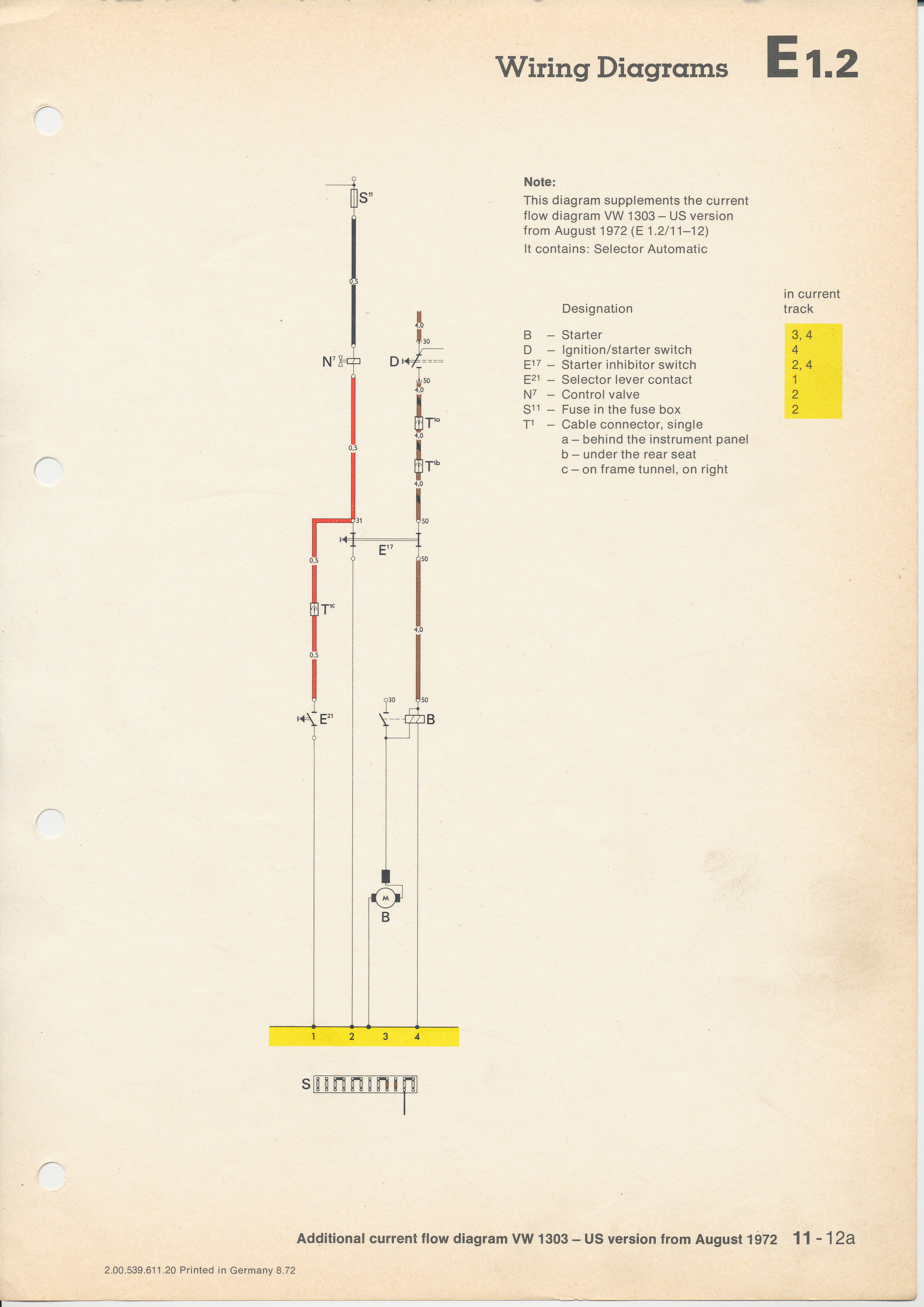 diagram of fuse box wiring for 1968 vw
