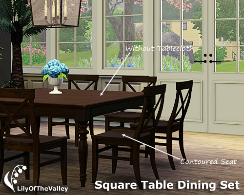 Lilyofthevalley S Square Table Dining Set
