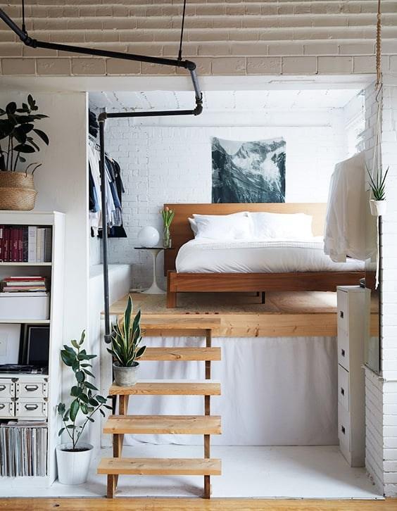 35 Mezzanine Bedroom Ideas The Sleep Judge   Sala Design With Stairs   Front   Showcase   Basement   Siri Ghar   Room Separation