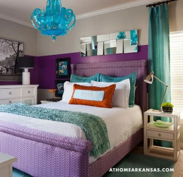 28 Nifty Purple and Teal Bedroom Ideas   The Sleep Judge Purple Patterns   Solid Teal
