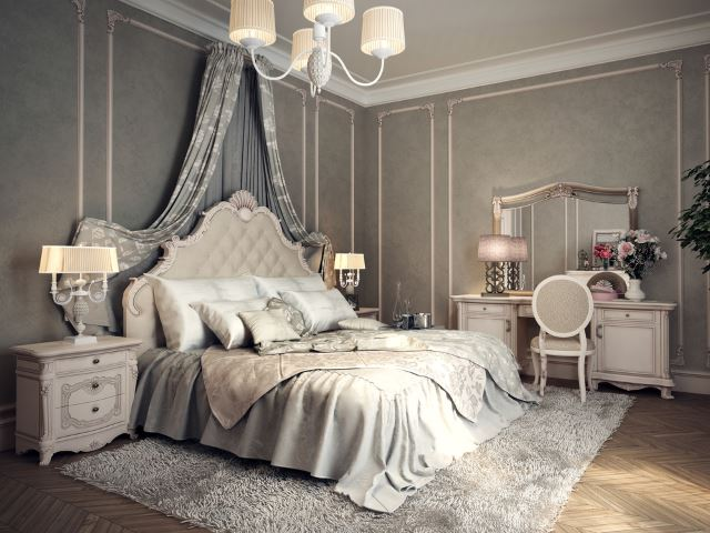 40 Of The Most Spectacular Victorian Bedroom Ideas   The Sleep Judge We know that the Victorian era was all about the darker gold colors and the  scroll work  but check out this twist on the traditional style