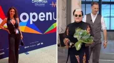 """Elettra Lamborghini all'Eurovision con Afrojack scrive a Malgioglio: """"Ti piace mio marito?"""""""