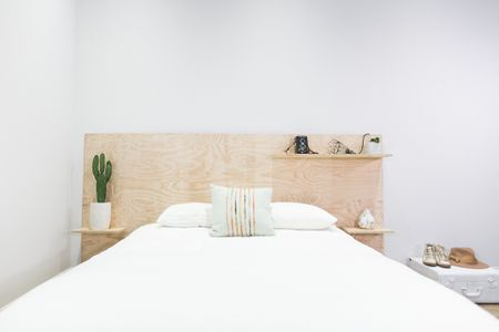 25 DIY Headboards You Can Make in a Weekend or Less Plywood DIY headboard for minimalists