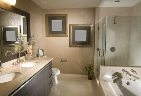 Secrets of a Cheap Bathroom Remodel Remodeled Bathroom With Frameless Shower and Tub