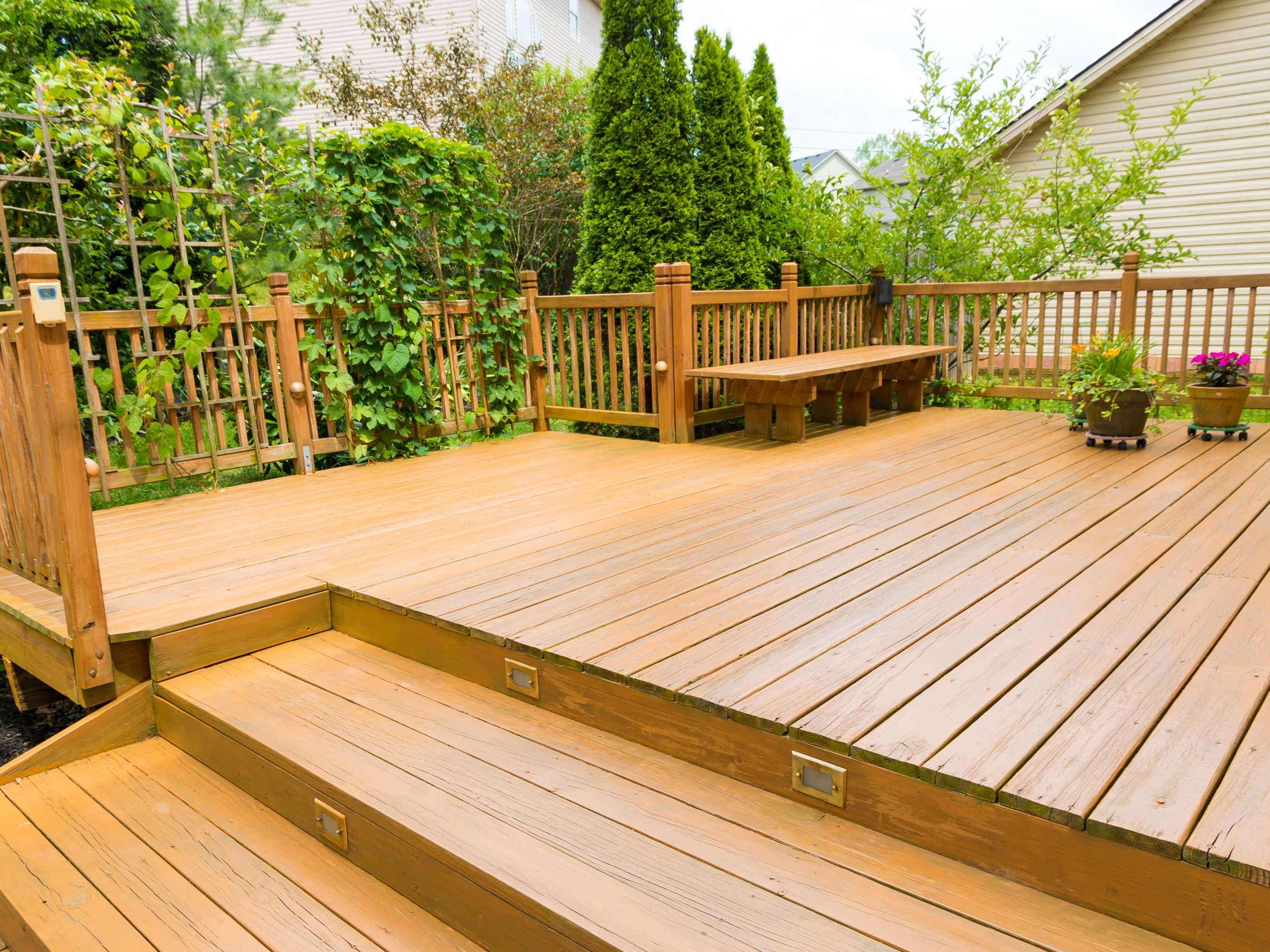 Wood And Composite Decking Pros And Cons   Best Wood For Outdoor Steps   Stair Railing   Stair Treads   Handrail   Treated Lumber   Stair Stringer