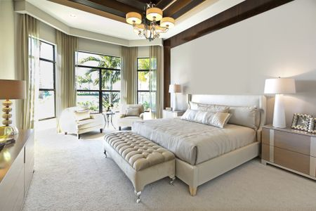 Why Carpet is Better Than Hardwood for Bedrooms Master bedroom in neutral colors featuring white carpet