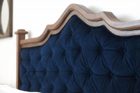25 DIY Headboards You Can Make in a Weekend or Less Upcycled headboard tufted project