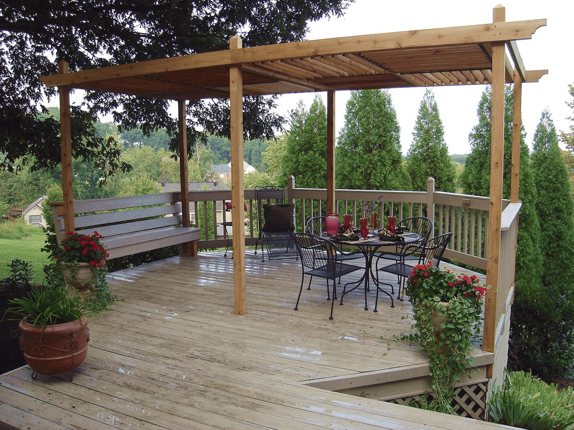 Backyard Porch Deck