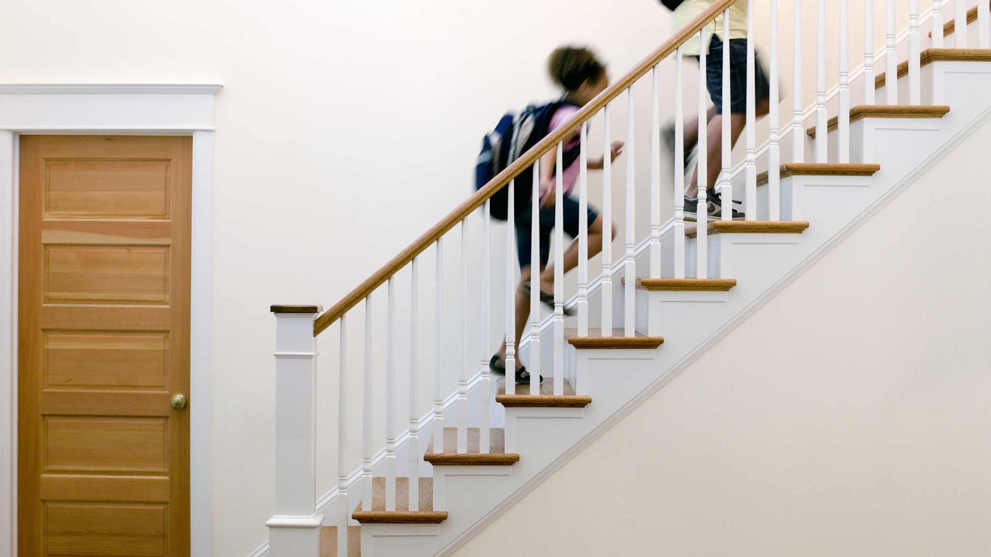 How To Install Stair Railing | Interior Handrails For Steps | Aircraft Cable | Wrought Iron | Western | Closed Staircase | Stair Bannister