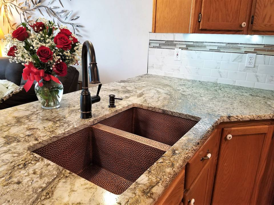White Kitchen Gray Countertops