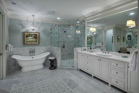 50 Inspiring Bathroom Design Ideas Beach style bathroom room with white and gray marble