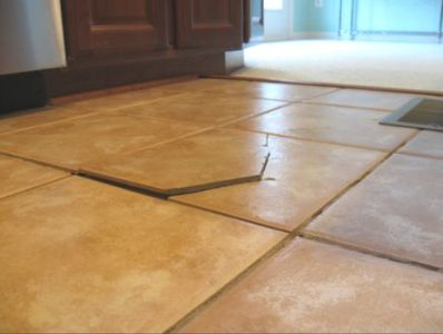 Reasons for Cracked Tile on Floors and Walls Cracked Individual Ceramic Tile