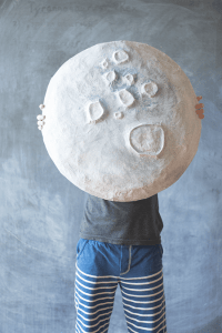 15 Fun and Easy Paper Mache Projects giant paper mache moon