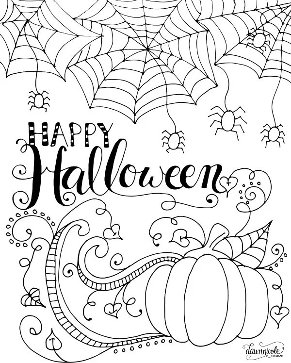 Full Size Printable Halloween Coloring Pages