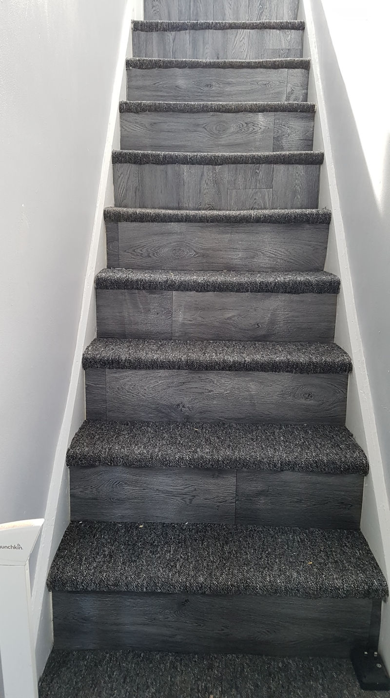 Mum Transforms Her Grubby Old Stairs For £10 Using Poundland Buys | Sticky Carpet For Stairs | Self Adhesive | Mat | Sticky Bottom | Flooring | Anti Slip