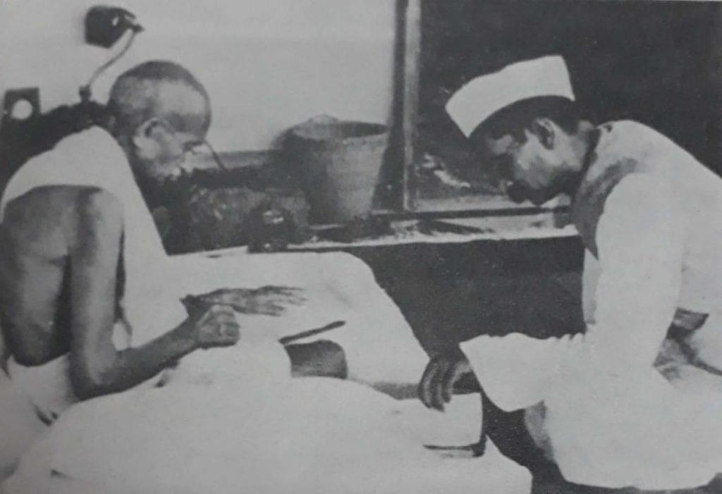 Dr. Rajendra Prasad with Gandhiji