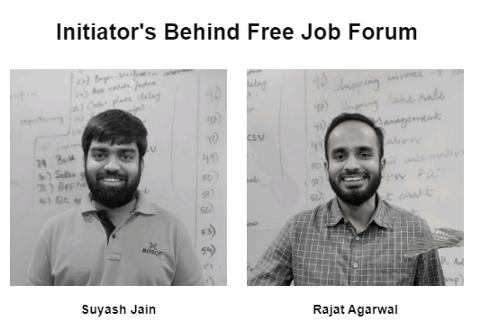 Initiators Behind Free Jobs Forum