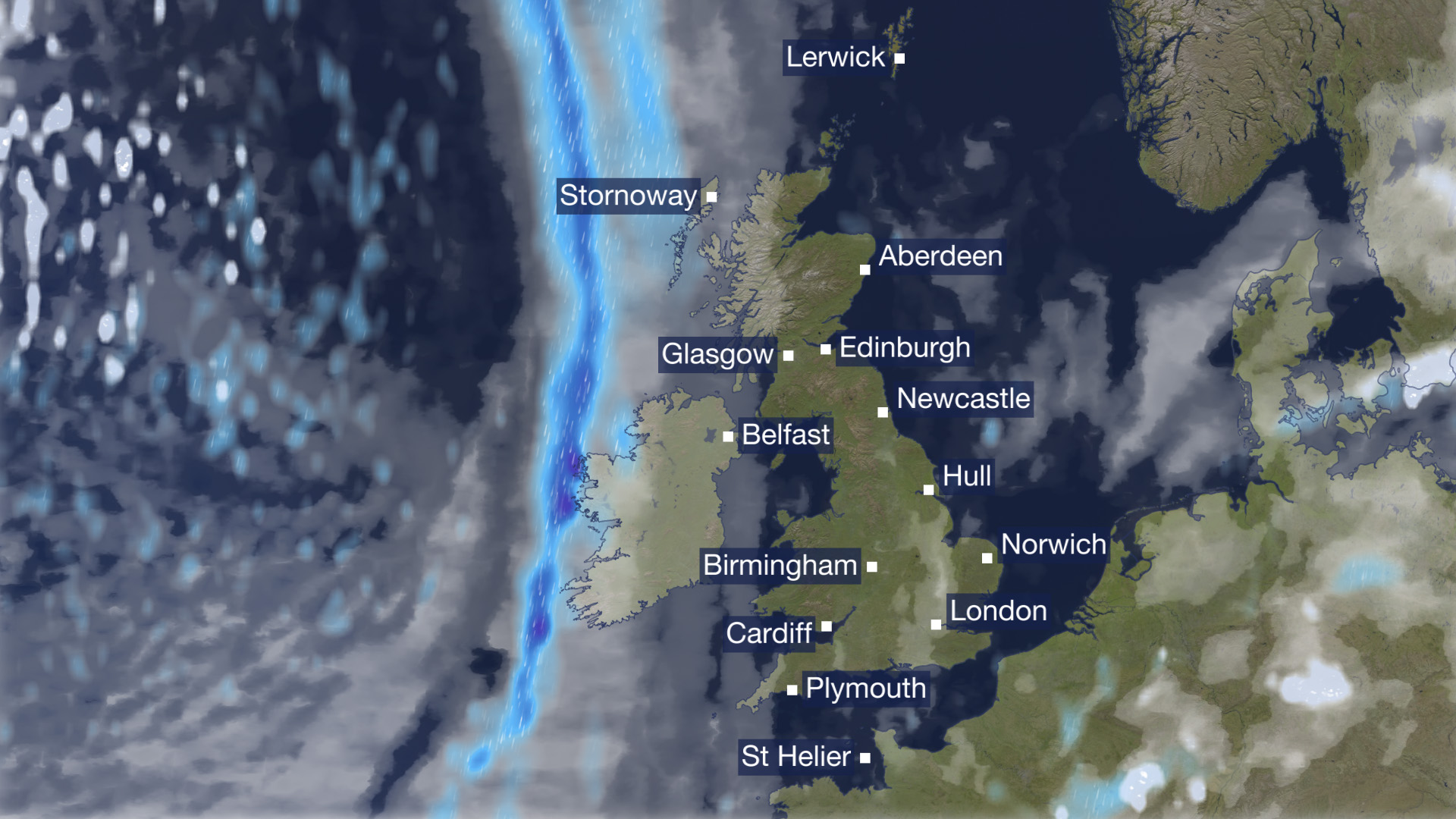 Flat map for BBC s weather forecast drives viewers to the edge     The BBC s revamped weather map will be broadcast in the lunchtime news today