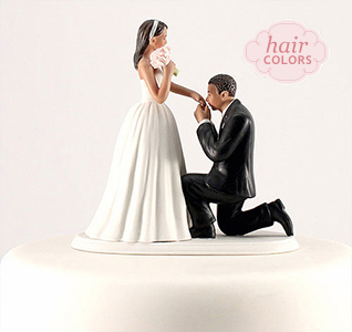 Wedding Cake Toppers   Wedding Cake Tops A Cinderella Bride   Groom Cake Top   Medium Skin Tone