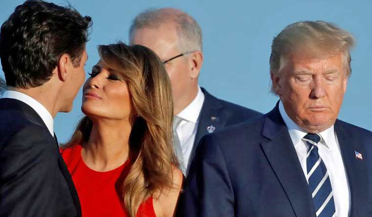 Melania Trump's moment with PM Trudeau at G7 goes viral ...