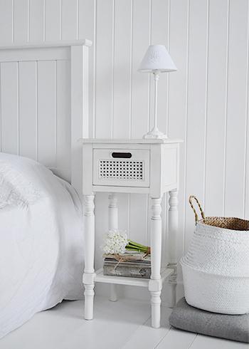 Colonial White Furniture Lamp Table Hallway Bathroom